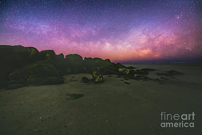 Milky Way Beach Art Print