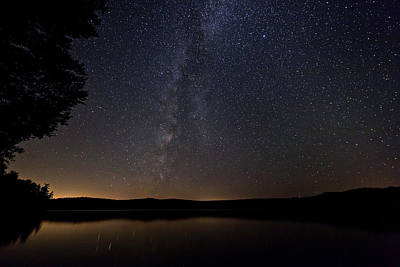 Photograph - Milky Way Chocorua Lake by Benjamin Dahl