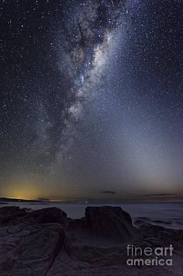 Moonlit Night Photograph - Milky Way Over Cape Otway, Australia by Alex Cherney, Terrastro