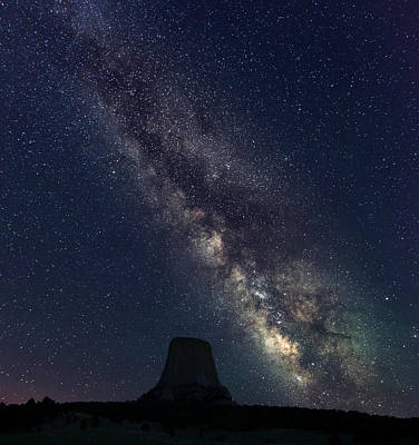 Photograph - Milky Way Over Devil's Tower by Gary Lengyel