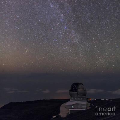 Aperture Photograph - Milky Way Over Gran Telescopio Canarias by Babak Tafreshi