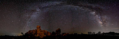 Photograph - Milky Way Over Joshua Tree by Peter Tellone