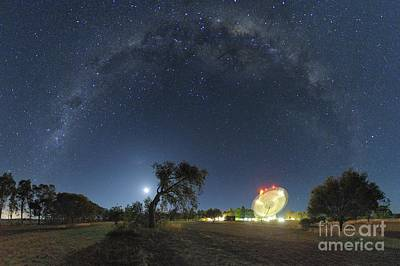 Moonlit Night Photograph - Milky Way Over Parkes Observatory by Alex Cherney, Terrastro