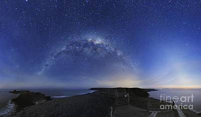 Moonlit Night Photograph - Milky Way Over Phillip Island, Australia by Alex Cherney, Terrastro