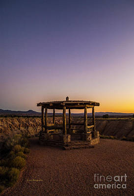 Cathedral Gorge Gazebo Art Print