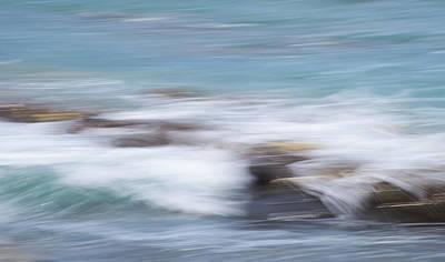 Photograph - Millook Waves Three by Bear R Humphreys