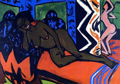 Bed Painting - Milly Asleep by Ernst Ludwig Kirchner