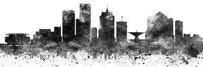 Digital Art Rights Managed Images - Milwaukee Skyline Panorama USWIML-PA03 Royalty-Free Image by Aged Pixel
