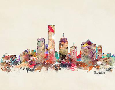 Painting - Milwaukee Wisconsin by Bri B