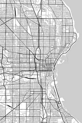 World War 2 Action Photography - Milwaukee Wisconsin USA Light Map by Jurq Studio