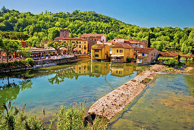 Photograph - Mincio River And Idyllic Village Of Borghetto View by Brch Photography