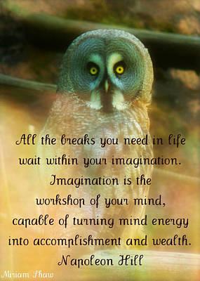 Mind Energy Art Print by Miriam Shaw
