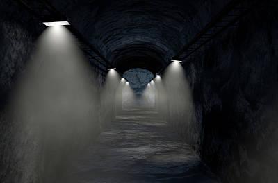 Arc Digital Art - Mine Shaft by Allan Swart