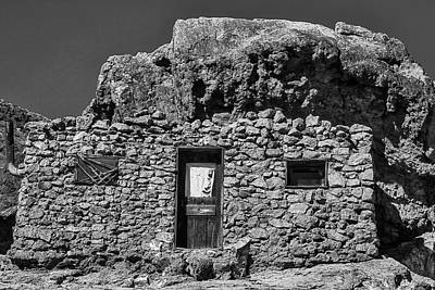 Miners Ghost Photograph - Miners Stone Shack by Garry Gay