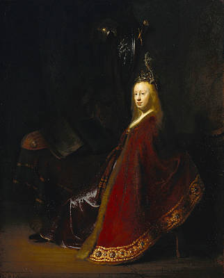 Legend Painting - Minerva by Rembrandt van Rijn