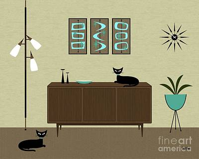 Digital Art - Mini Mid Century Shapes by Donna Mibus