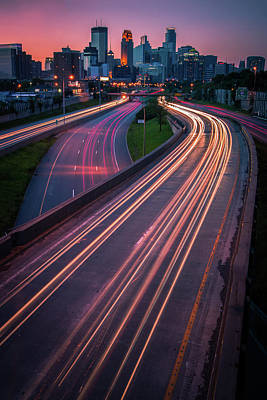 Photograph - Minneapolis In Motion by Josh Eral