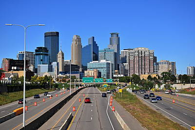 Photograph - Minneapolis Skyline by Steven Liveoak