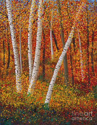 Painting - Minnesota Birches by Garry McMichael