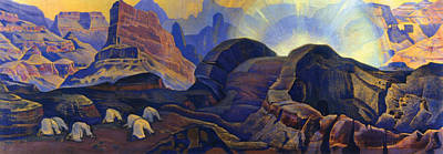 Crossing Painting - Miracle by Nicholas Roerich