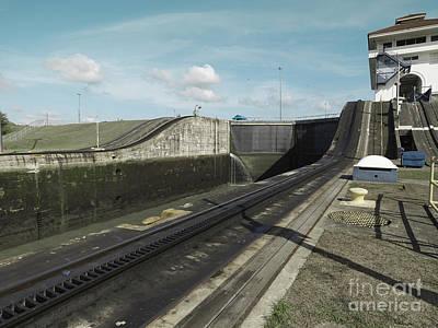 Transportation Photograph - Miraflores Locks At Panama Canal, Panama by Dani Prints and Images