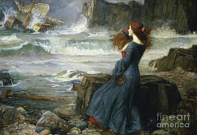 Painting - Miranda  The Tempest by John William Waterhouse
