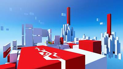 Design Digital Art - Mirror's Edge by Maye Loeser