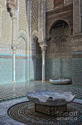 African Ceramics Photograph - Misbahiya Medersa In Fez by Patricia Hofmeester