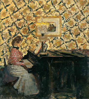 Piano Painting - Misia At The Piano by Edouard Vuillard