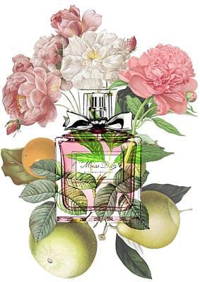 Miss Dior Blooming Bouquets - By Diana Van Art Print by Diana Van