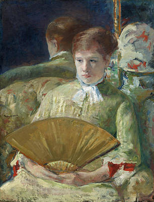 Mirroring Painting - Miss Mary Ellison by Mary Cassatt