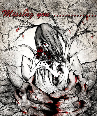 Photograph - Missing You.... by Kristie  Bonnewell