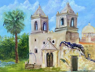 Painting - Mission Concepcion by Cheryl Damschen