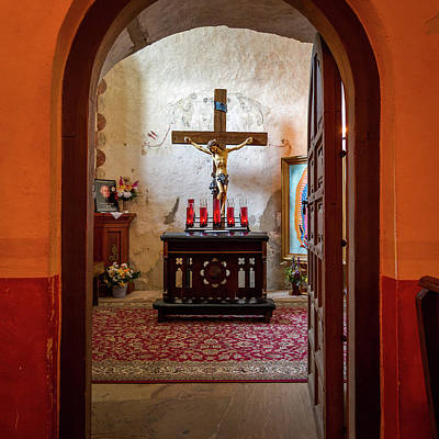 Photograph - Mission Concepcion Doorway by Tim Stanley