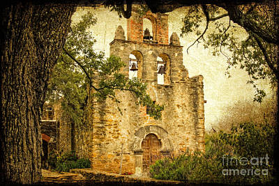 Mission Espada Art Print by Iris Greenwell