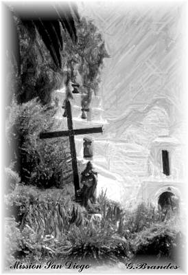 Photograph - Mission San Diego by Gary Brandes