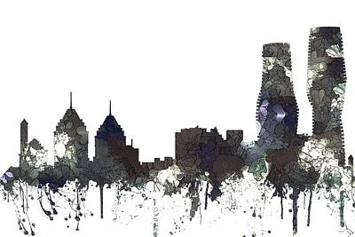 Digital Art - Mississauga Ont. Skyline by Marlene Watson