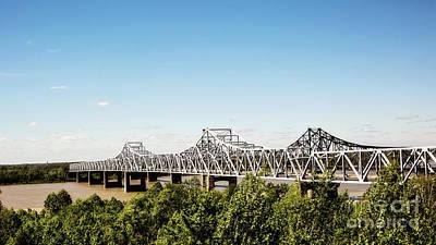 Photograph - Mississippi River Bridge - Vicksburg by Scott Pellegrin