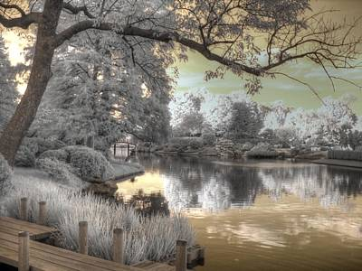 Infared Photograph - Missouri Botanical Garden by Jane Linders