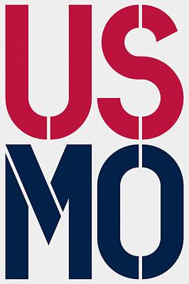 Patriotism Painting - Missouri by Three Dots