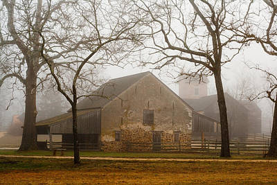 Photograph - Misty Batsto Horse Barn by Kristia Adams