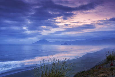 Pastel Sunset Photograph - Misty Coastline by Andrew Soundarajan