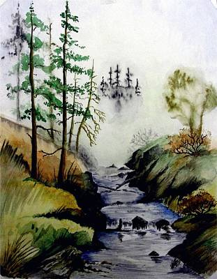 Misty Creek Art Print