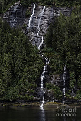 Waterfall Photograph - Misty Fjords Waterfalls by Dani Prints and Images