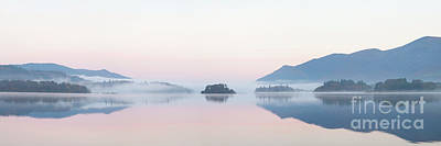 Photograph - Misty Islands Of Derwent Water by Gavin Dronfield