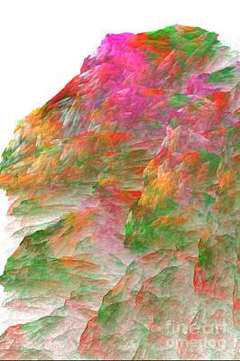 Digital Art - Misty Mountain by Dwayne Jahn