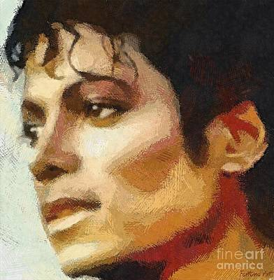 Michael Jackson Drawing - M J by Dragica Micki Fortuna