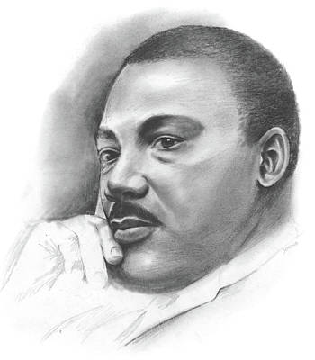 Martin Luther King Jr Drawing - MLK by Greg Joens