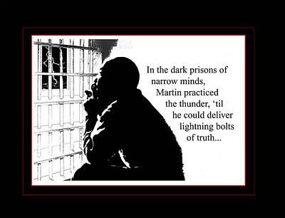 Mlk In Jail Art Print by Richard Gordon