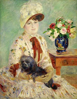 Puppies Painting - Mlle Charlotte Berthier by Pierre-Auguste Renoir